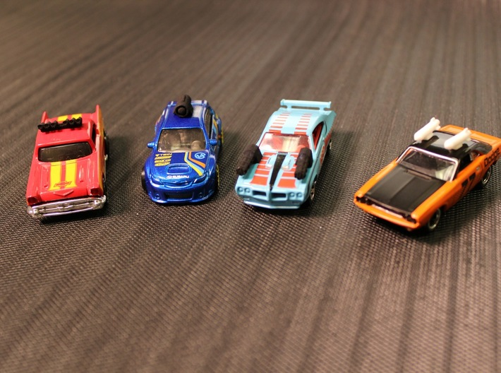 Car Weapons - Hotwheels Scale - TURBO RALLY / OUTR 3d printed