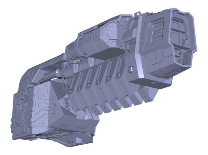 "Somtaaw ""Explorer"" Command Ship 3d printed The fully assembled Kuun-Lan"