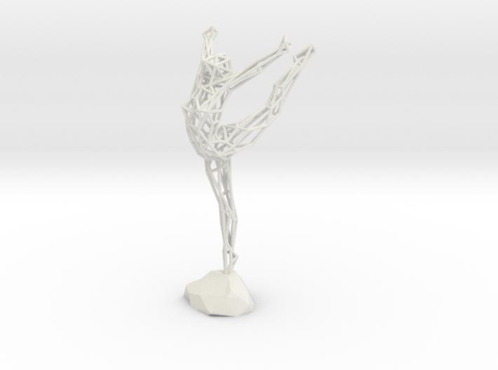 Wireframe Ballerina 3d printed