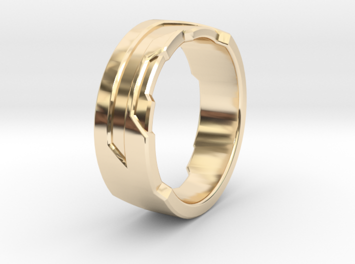 Ring Size P 3d printed