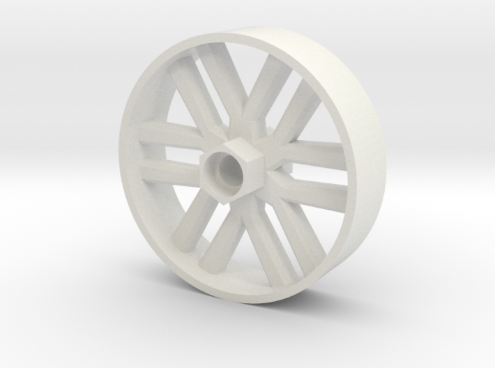 BP8 front wheel for foam tires 60mm 3d printed