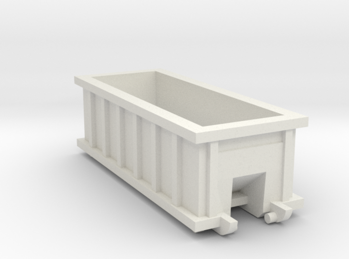 N Scale 20 FT X 8FT Roll-off Dumpster 3d printed