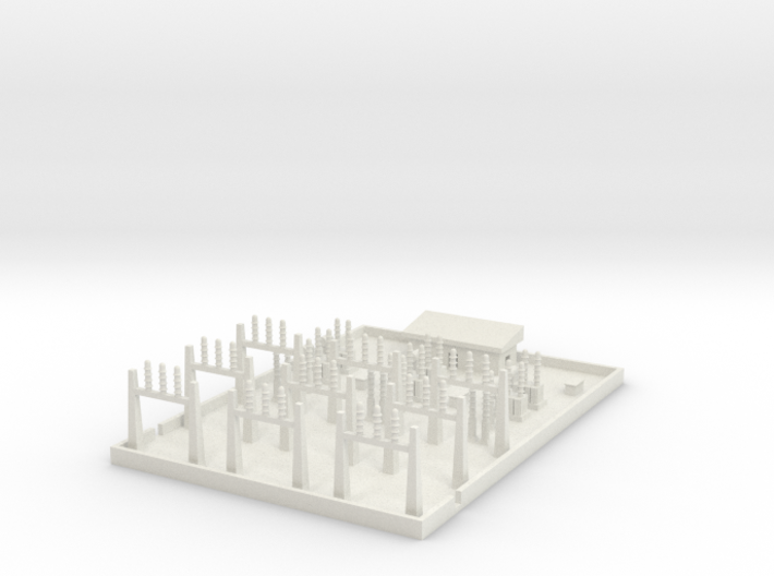 1/600 Large Power Substation 3d printed