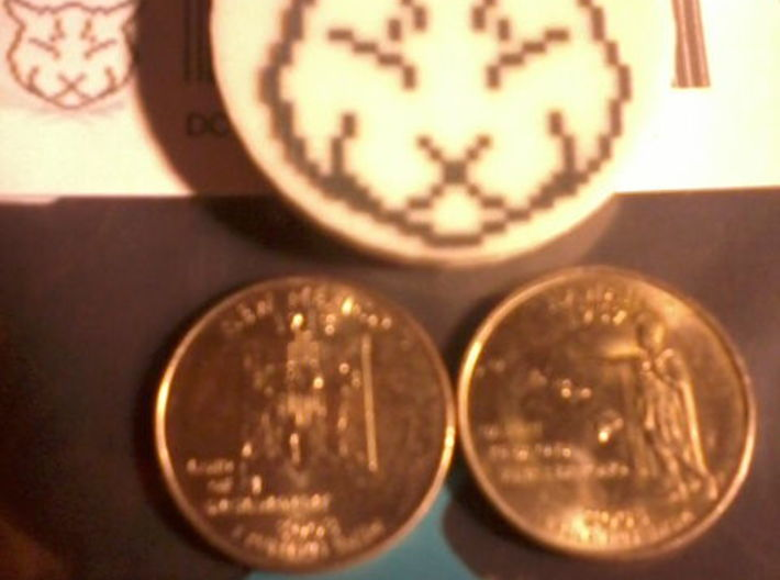 Deluxe Ulysses Token 3d printed The first test print - perfect!