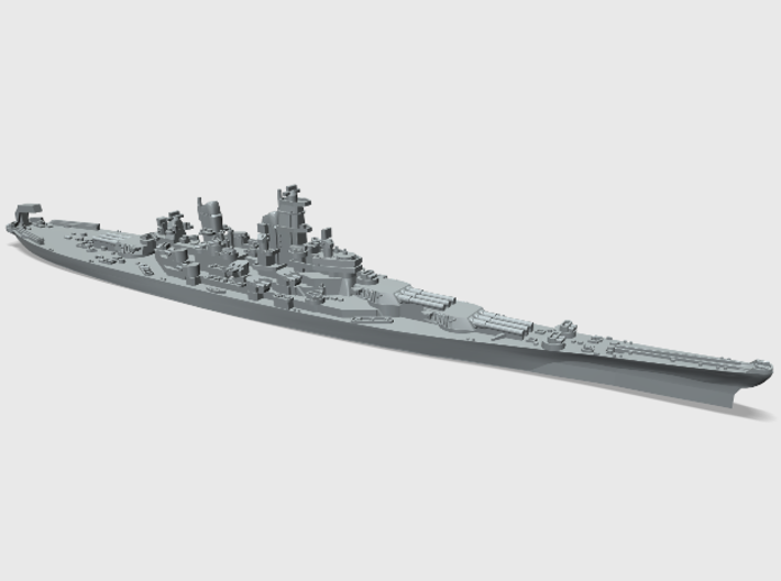 WWII US 1/4800 Iowa class battleships (x4) 3d printed USS Missouri BB63