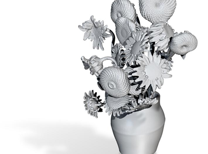 van Gogh's Sunflowers in 3D 3d printed