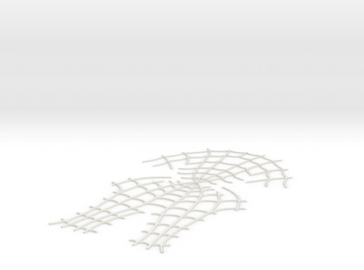 Spider-Man Face Webbing (fits kenlandrum print) 3d printed