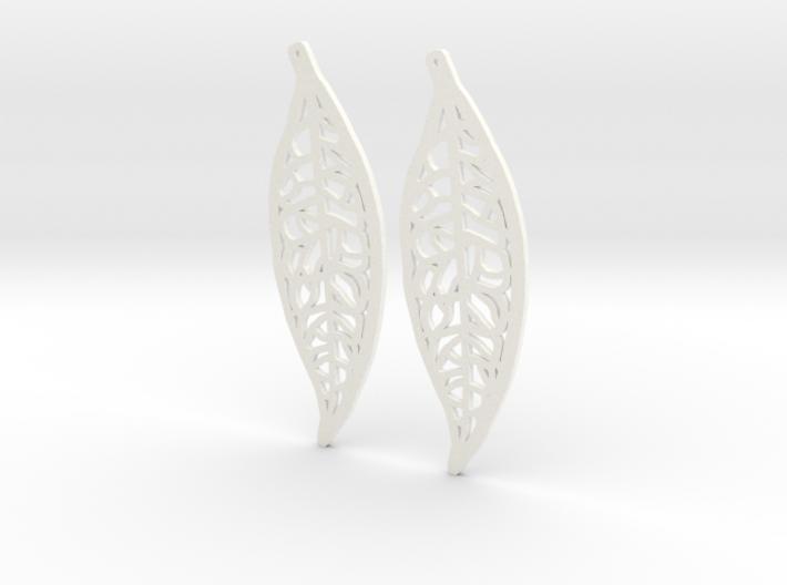 Laura's Money Tree Earings (Pachira aquatica) 3d printed