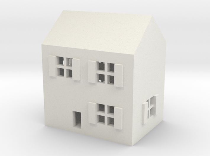 1/600 Town House 1 3d printed
