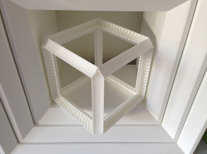 Hypercube perspective illusion cube 3d printed