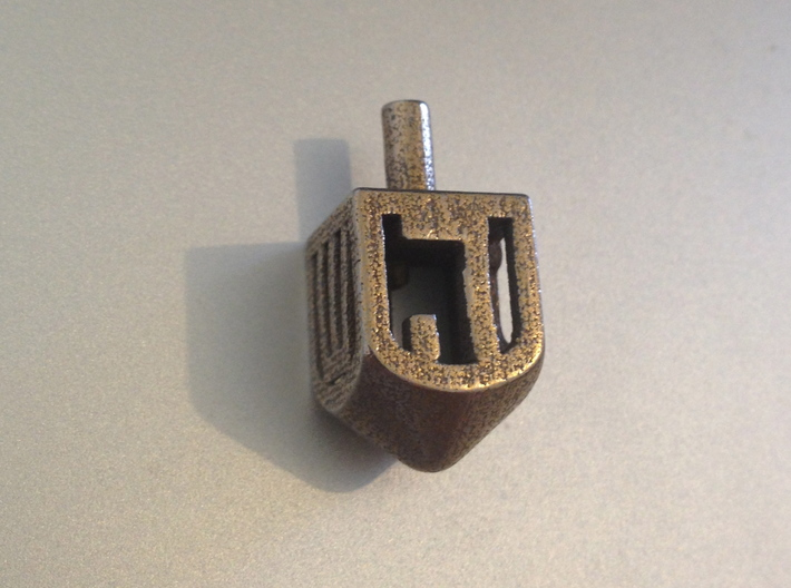 Dreidel (small version) 3d printed Stainless steel