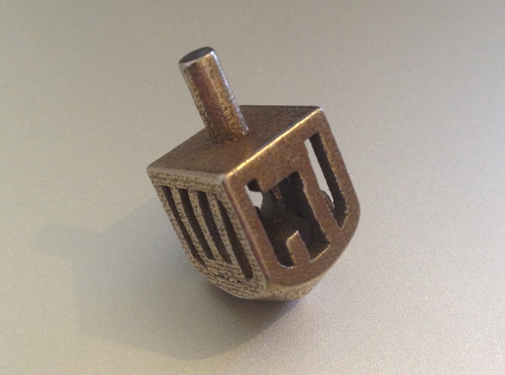 Dreidel (Spinner) 3d printed Stainless steel
