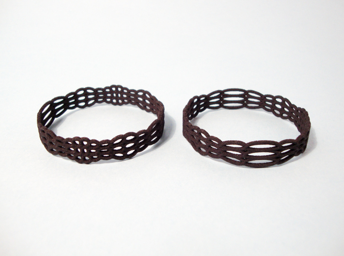 Wired Beauty 2 Hoop Earrings 50mm 3d printed Earrings printed in Black Strong & Flexible -material.