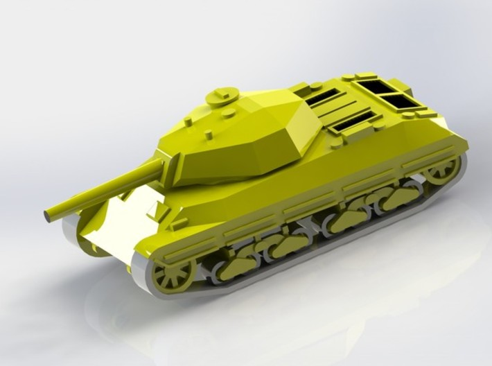 Italian P43 Tank 1/100 15mm Scale 3d printed Add a caption...