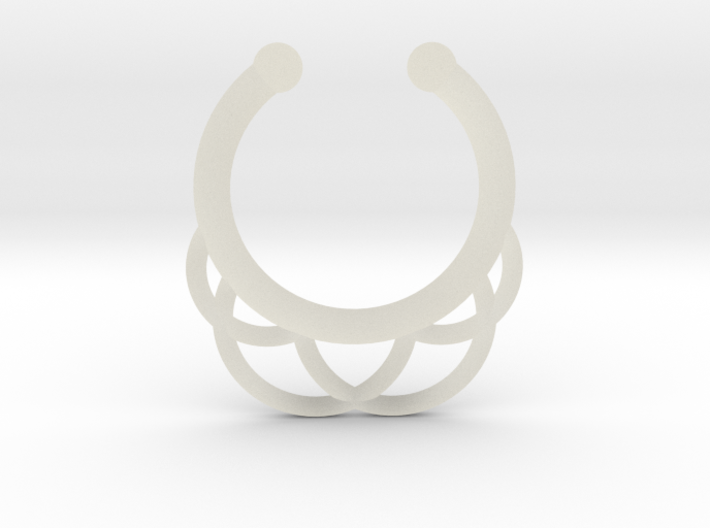 Faux Septum Ring - outer semicircles 3d printed