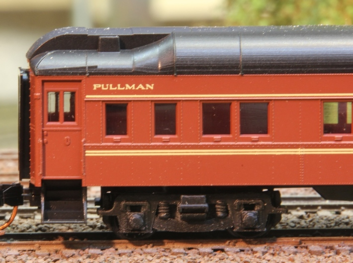 N-Scale (1/160) PRR Passenger Truck 2D-P5 Roller B 3d printed Add a caption...