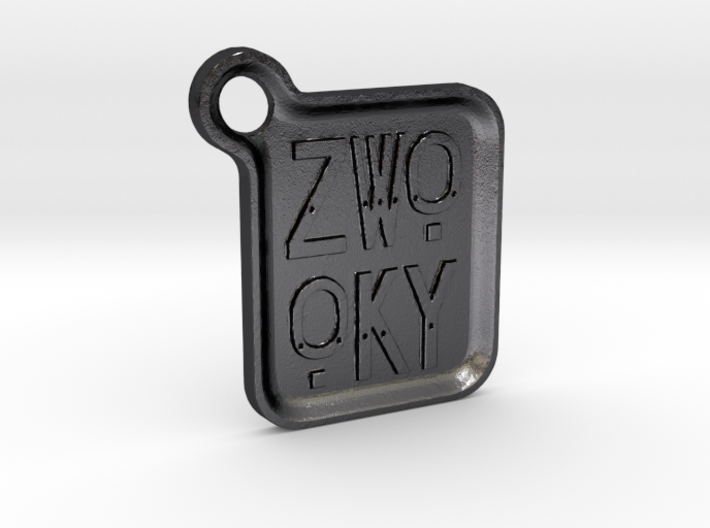 ZWOOKY Keyring LOGO 14 4cm 3mm rounded 3d printed