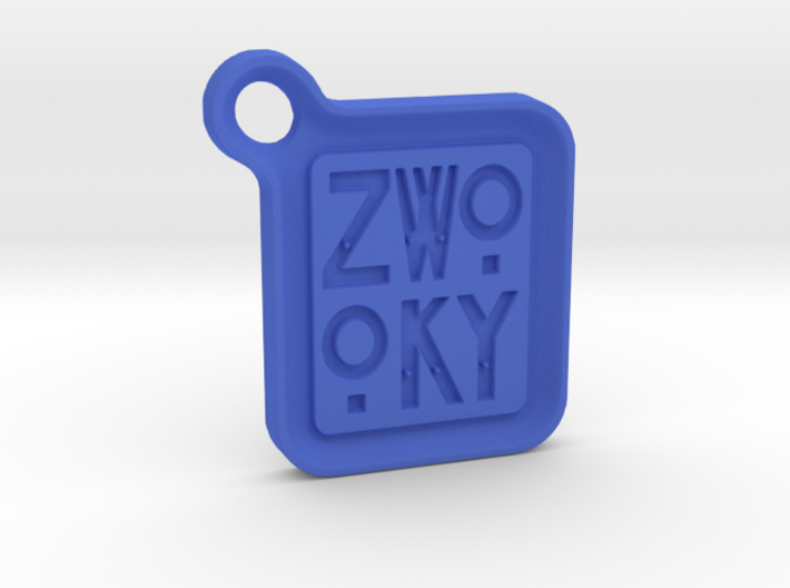 ZWOOKY Keyring LOGO 12 3cm 3.5mm rounded 3d printed