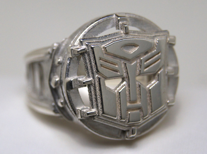 Autobot Ring Size 10 3d printed