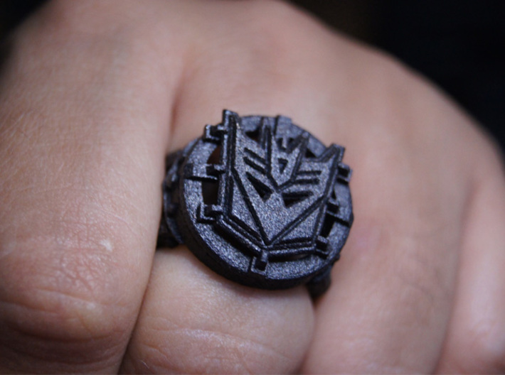 Decepticon Ring Size 10 3d printed