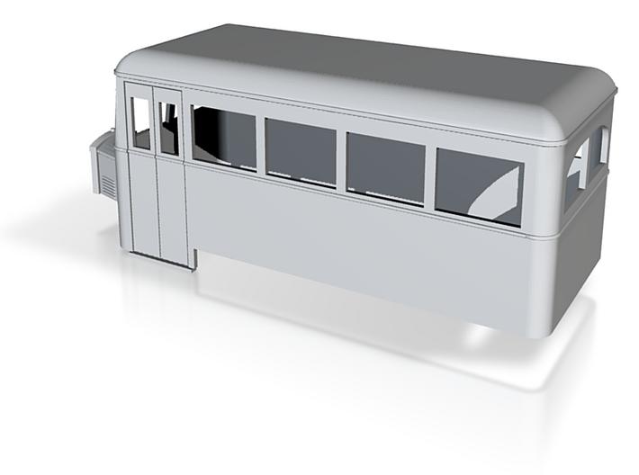 OO9 rail bus 4w single end 3d printed