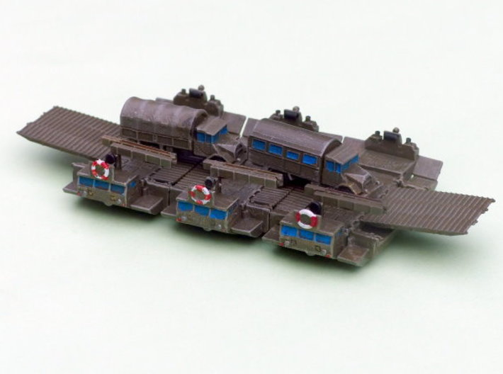 M2 Alligator Amphibious Bridging Vehicle 1/285 6mm 3d printed Configurated as Ferry