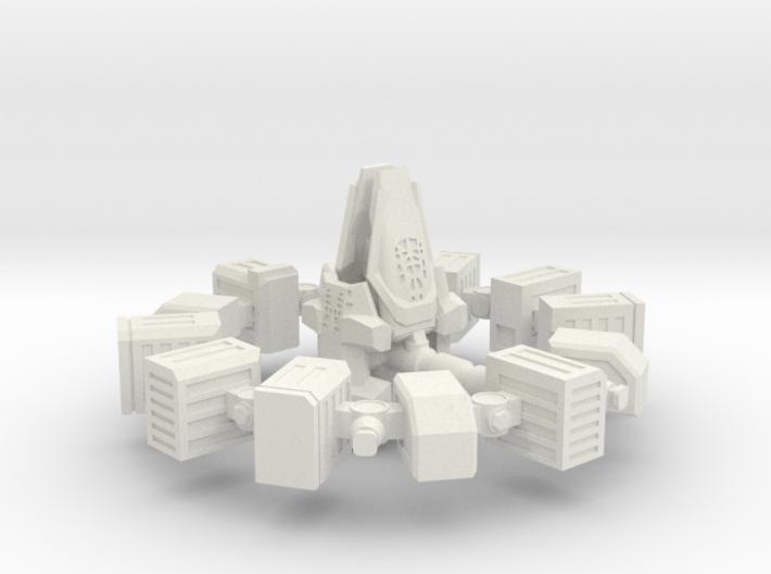 ENDURANCE spacecraft 1/1000 (64mm) 3d printed