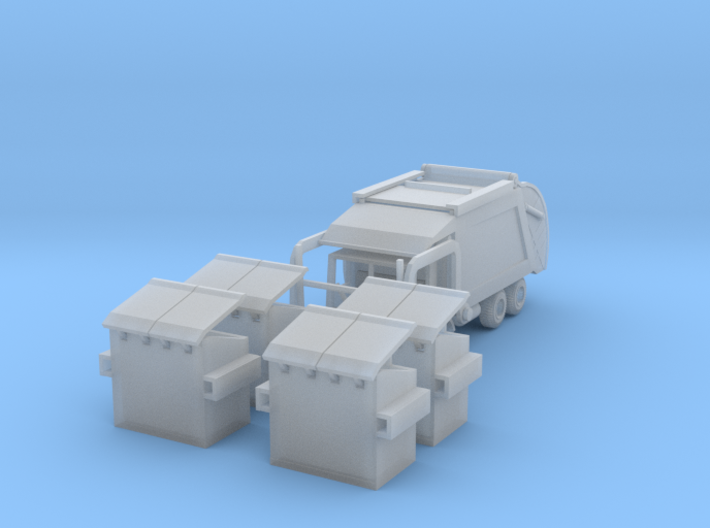 Garbage Truck Z Scale 3d printed