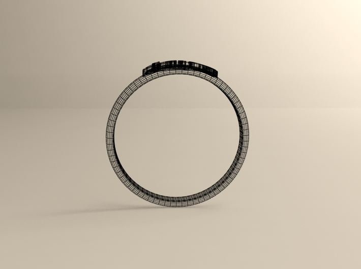 Ring Of Love 3d printed Wireframe