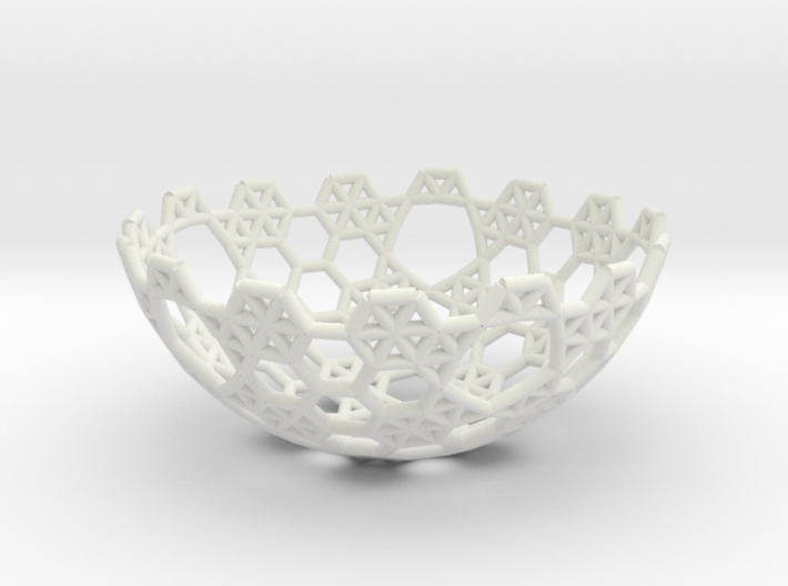 Cell Sphere 5 - Hex Bowl 3d printed