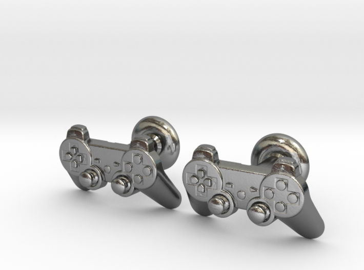 Gamer Cufflinks (Light as a feather version) 3d printed