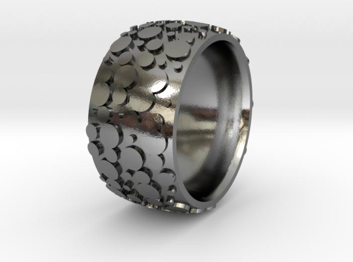 Nubbed Ring - Size 9 3d printed
