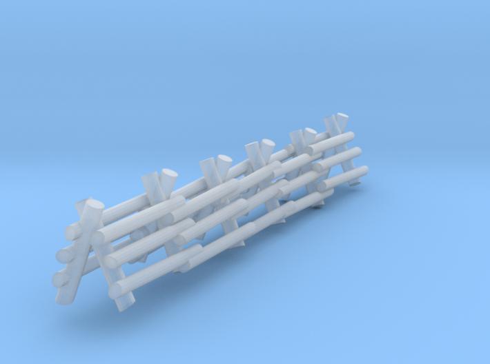 3 Rail A Frame Fence 3d printed