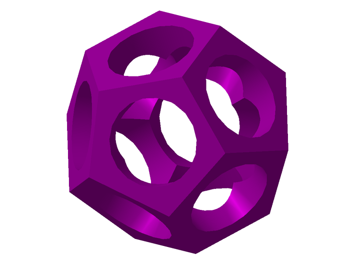 Dodecahedron 3d printed Dodecahedron