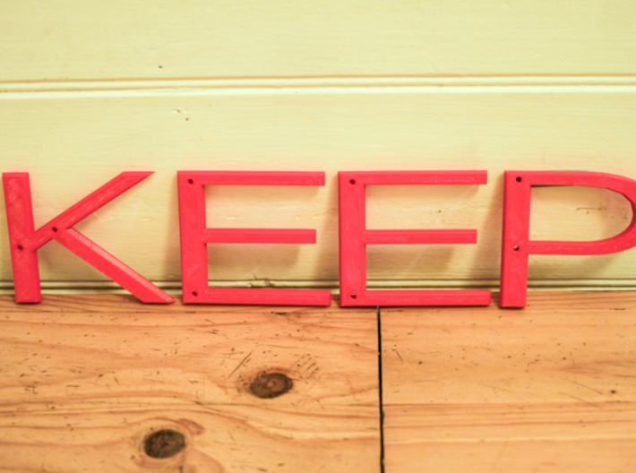 Keep Clear sign 3d printed