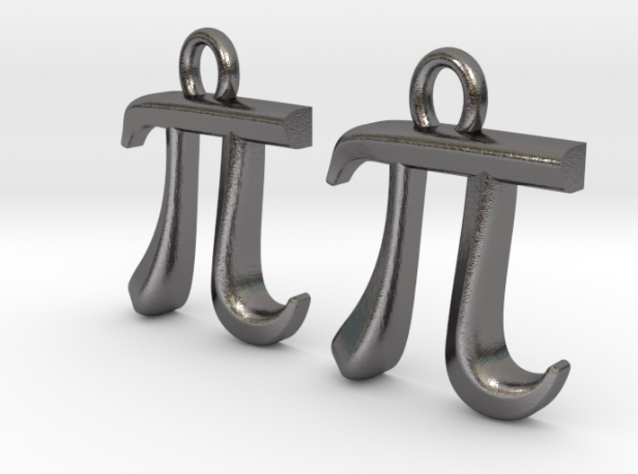 Pi Earrings 3d printed