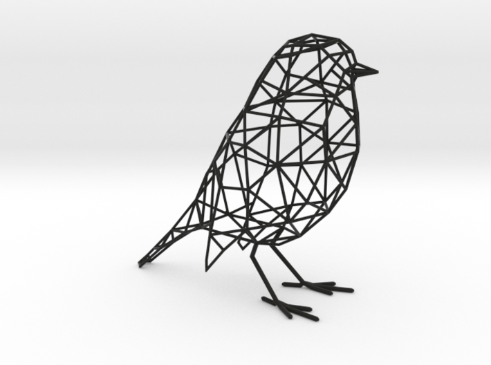Bird wireframe 3d printed