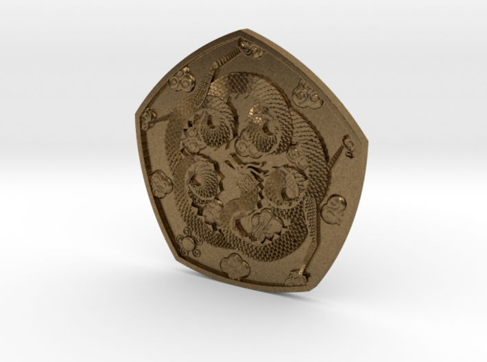 Detailed Dragon Coin 3d printed