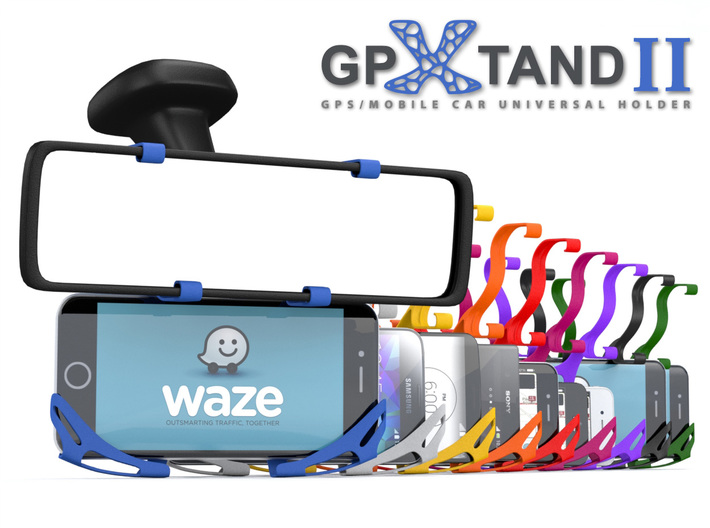 GPXtand II - Universal Mobile and GPS Car Holder 3d printed Fits in All Mobiles, All Cars and All GPS Devices - WITH OR WITHOUT CASE!