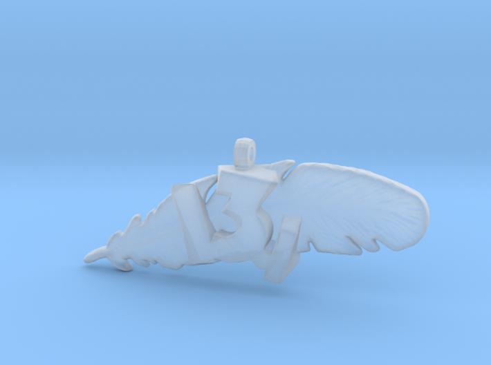 13.1 HALF MARATHON FEATHER NECKLACE 3d printed