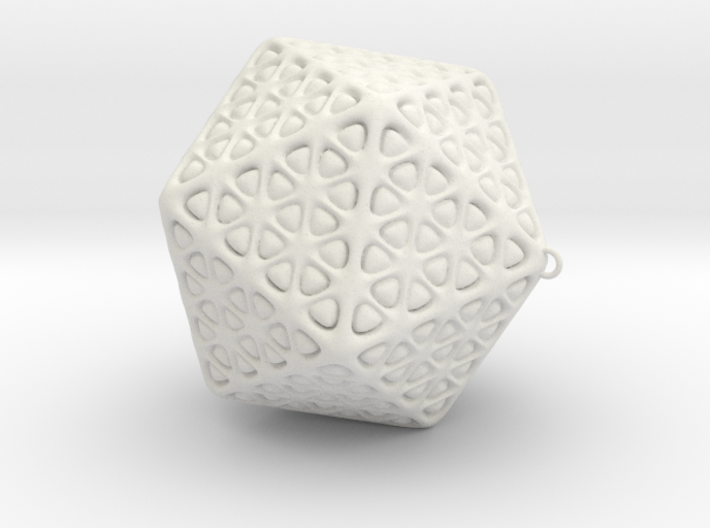 Christmas Tree Ornament Icosahedron Smaller 3d printed