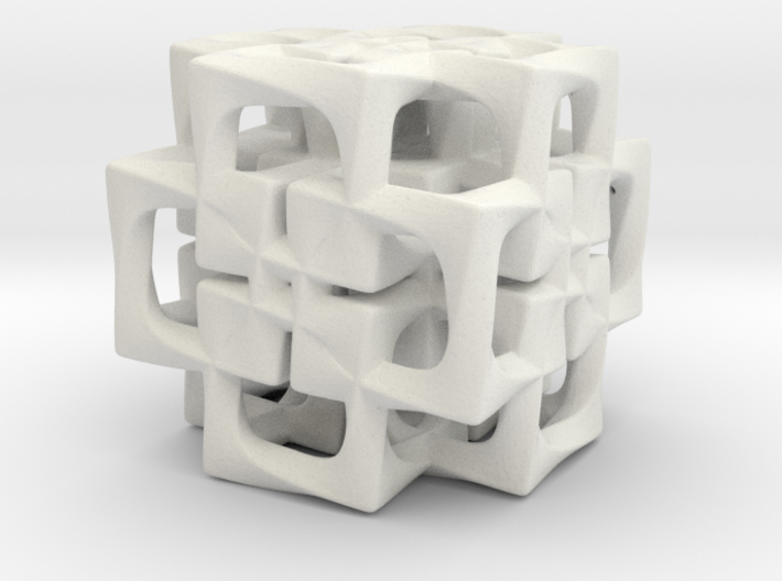 Fused Cubes smaller 3d printed