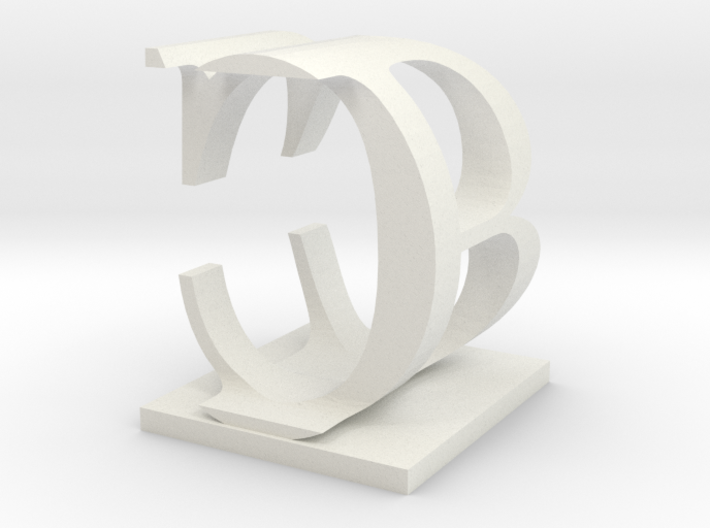 Two way letter / initial B&C 3d printed