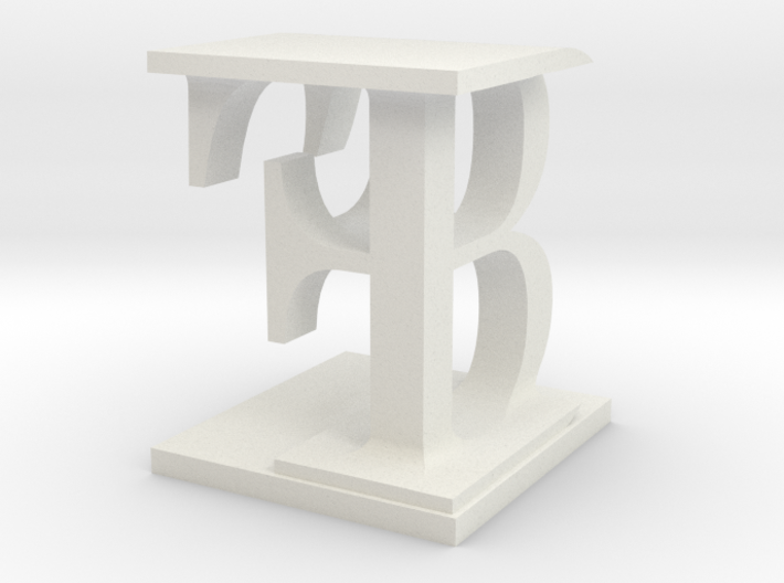 Two way letter / initial B&F 3d printed