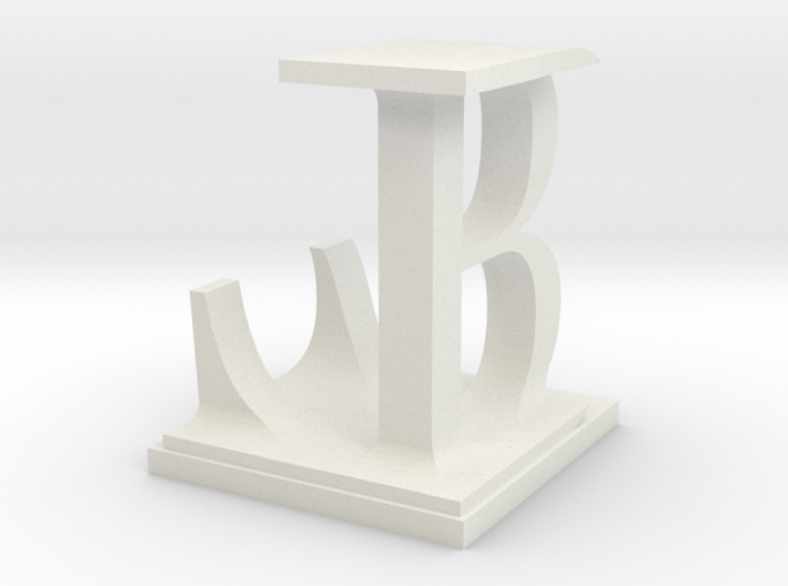 Two way letter / initial B&L 3d printed
