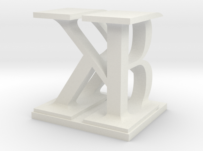 Two way letter / initial B&K 3d printed