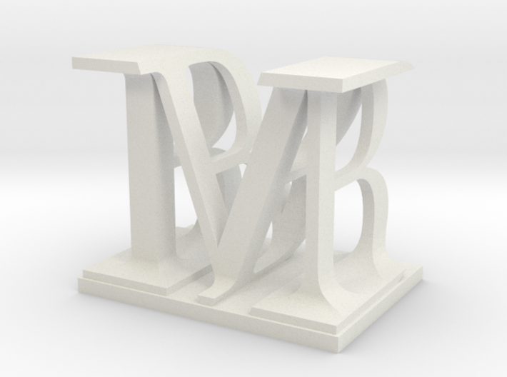 Two way letter / initial B&M 3d printed