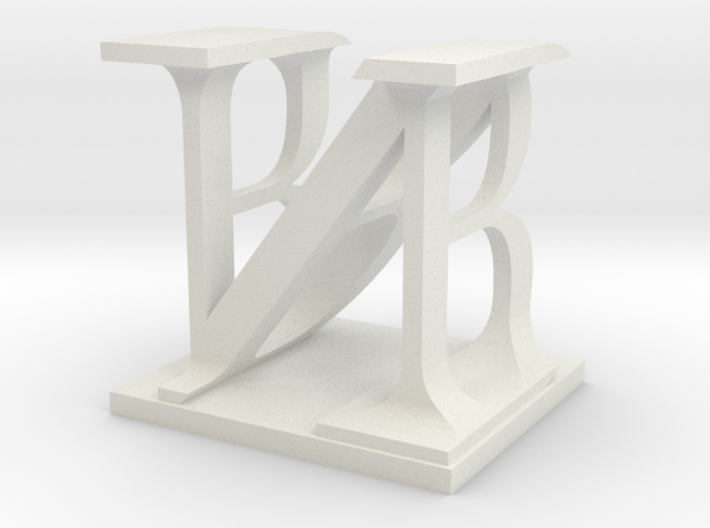 Two way letter / initial B&N 3d printed