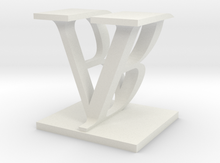 Two way letter / initial B&V 3d printed