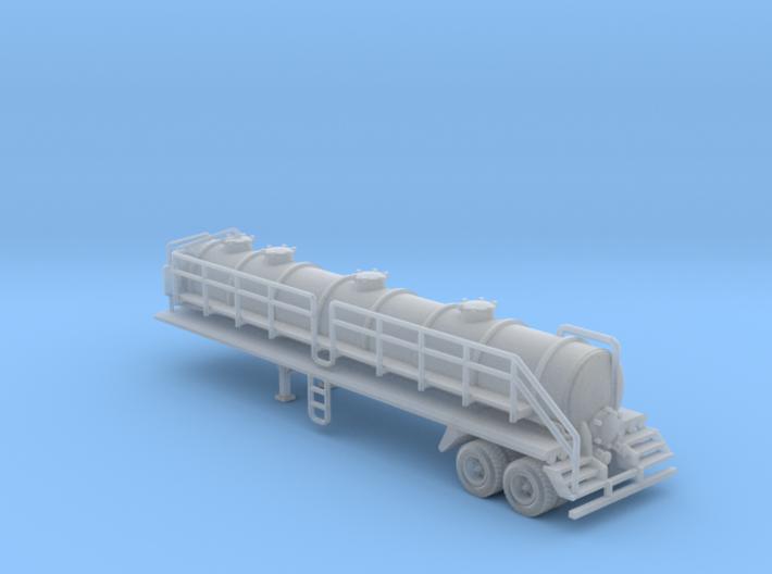 130 bbl Steel Vacuum Heavy Duty trailer 45' 5400 g 3d printed